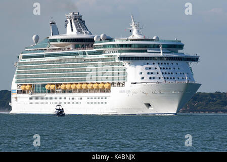 Cruise ship Navigator of the Seas underway on Southampton Water England UK. August 2017 - Stock Photo