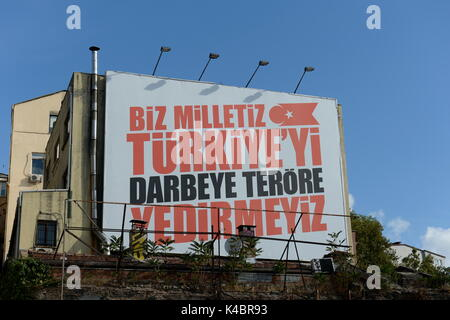 Anti Terror Poster Of The Turkish Government In Istanbul, Turkey - Stock Photo
