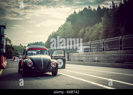 VW Beetle - Classic Car Racing - Stock Photo