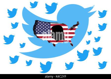 Twitter Presidency Of Donald Trump - Stock Photo