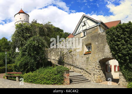 White Tower On The City Wall - Stock Photo