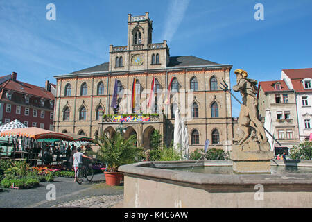 Town Hall Weimar In Thuringia - Stock Photo