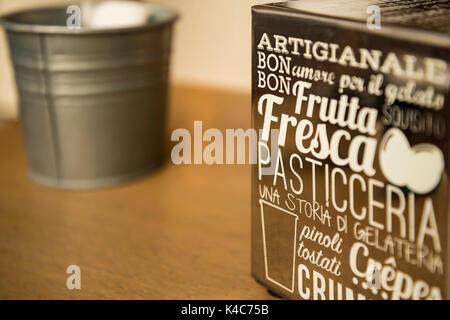 Paper napkin dispenser - Stock Photo