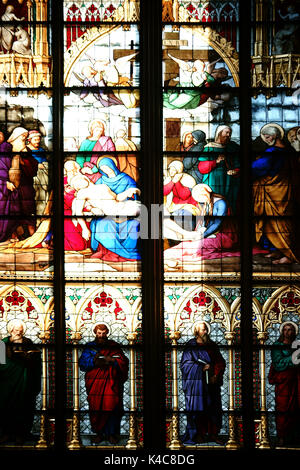 Cologne Cathedral Window - Stock Photo