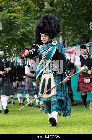 Aberlour, Scotland, UK. 05 Aug, 2017: Activities at the 2017 Highland Games in Aberlour, Scotland. - Stock Photo