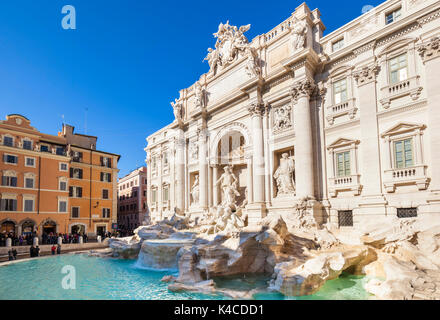 Rome Italy The Trevi Fountain backed by the Palazzo Poli daytime Rome Italy Lazio EU Europe - Stock Photo