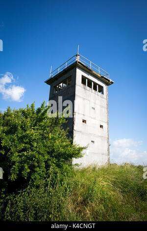 Former Gdr Watch Tower On The Elbe In Mecklenburg-Vorpommern, Former Inner-German Border - Stock Photo