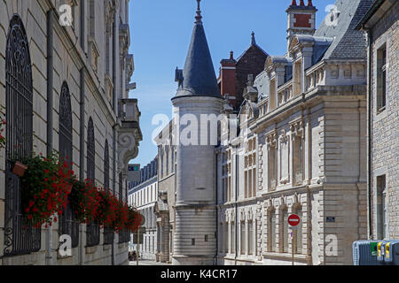 Historical buildings in the old city of Besançon, Doubs, Bourgogne-Franche-Comté, France - Stock Photo