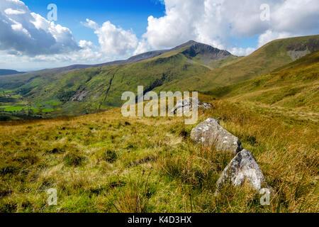 Craig Cwm Silyn, on the Nantle Ridge above Cwm Pennant, Snowdonia, North Wales, UK - Stock Photo