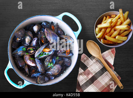 Moules frites - Stock Photo