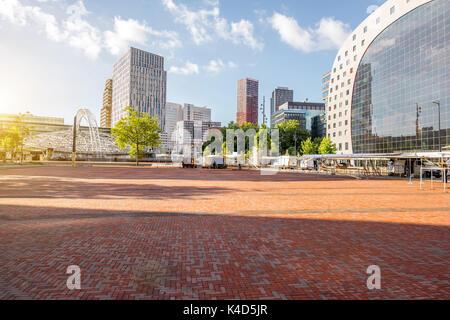 Rotterdam city in Netherlands - Stock Photo
