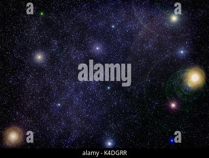 High definition star field background . Starry outer space background texture . Colorful Starry Night Sky Outer - Stock Photo