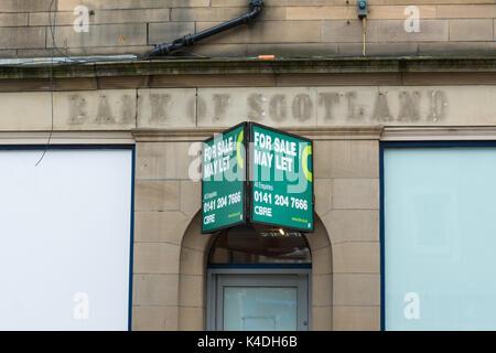 Closed Bank of Scotland branch, Perth, Scotland, UK - Stock Photo