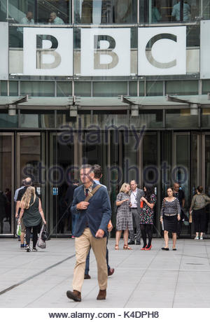 File photo dated 19/07/17 of BBC Broadcasting House in London, as the BBC is to review salaries across the corporation - Stock Photo