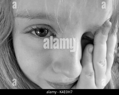 Little Girl Is Crying - Stock Photo