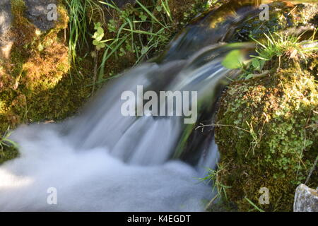 Waterfall - Long exposure, Turin, Piedmont, Italy - Stock Photo