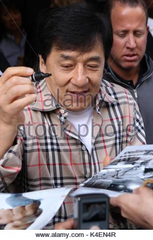 Jackie Chan outside the BBC Radio One studios London ...