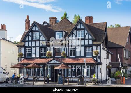 The George Hotel, The Square, Pangbourne, Berkshire, England. United Kingdom - Stock Photo