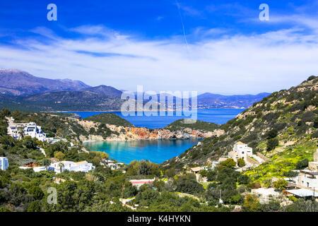 Impressive Istrion Bay,Crete island,Greece. - Stock Photo