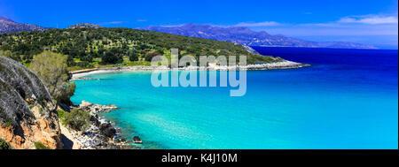 Impressive Voulisma beach,Crete island,Greece. - Stock Photo