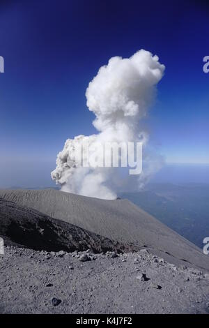 Indonesia, Java Island, East Java province, Bromo Tengger Semeru National Park, eruption of Semeru 3 676 m - Stock Photo