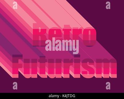 Retro Futurism. Stylistic inscription 80s. Vector illustration - Stock Photo