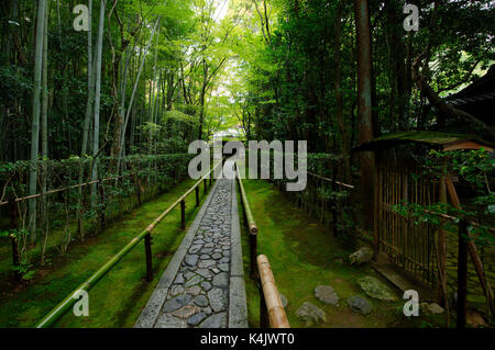 Koto-in temple narrow entrance path, Kyoto, Japan, Asia - Stock Photo