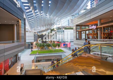 Interior of Brickell City Centre shopping mall in Downtown Miami, Miami, Florida, United States of America, North - Stock Photo