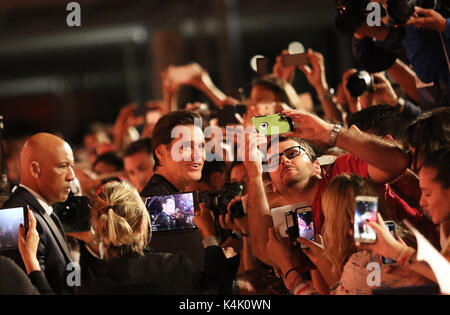 Europe, Italy, Lido di Venezia, 05 september, 2017 : the actor Jim Carrey at the red carpet of the movie 'Jim and - Stock Photo