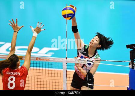Tokyo, Japan. Credit: MATSUO. 6th Sep, 2017. Yuki Ishii (JPN) Volleyball : FIVB World Grand Champions Cup 2017 women's - Stock Photo