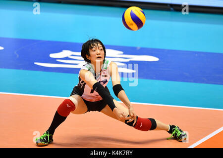 Tokyo, Japan. Credit: MATSUO. 6th Sep, 2017. Yurie Nabeya (JPN) Volleyball : FIVB World Grand Champions Cup 2017 - Stock Photo