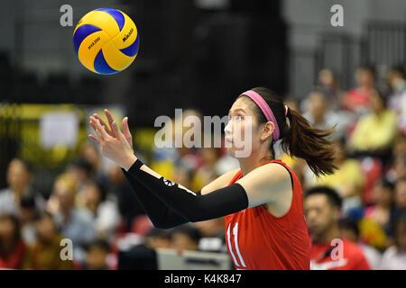 Tokyo, Japan. Credit: MATSUO. 6th Sep, 2017. Kim Su Ji (KOR) Volleyball : FIVB World Grand Champions Cup 2017 women's - Stock Photo