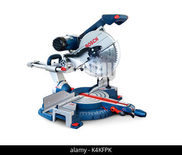 Bosch compound miter saw, mitre saw power tool - Stock Photo
