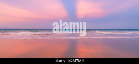Cable Beach at sunrise. Broome, Western Australia - Stock Photo