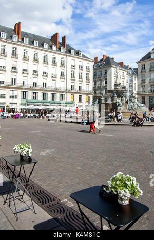 Place Royale,  Nantes, Pays de la Loire, France - Stock Photo