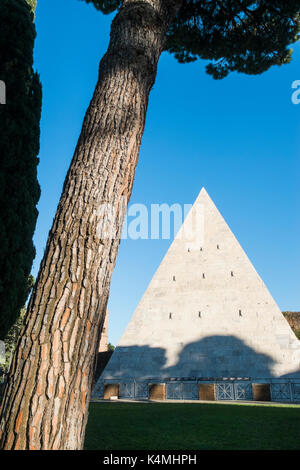 pyramid of cestius - Stock Photo
