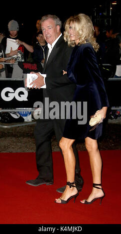LONDON - SEP 05, 2017: Jeremy Clarkson and girlfriend Lisa Hogan attend the GQ Men of the Year Awards at theTate - Stock Photo