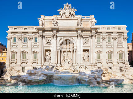 ROME ITALY Rome Italy Newly cleaned The Trevi Fountain backed by the Palazzo Poli daytime Rome Italy Lazio EU Europe - Stock Photo