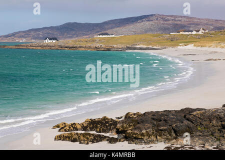 Prince's Beach (Coileag a' Prionnnsa) on the island of Eriskay in the Outer Hebrides, Scotland, United Kingdom, - Stock Photo