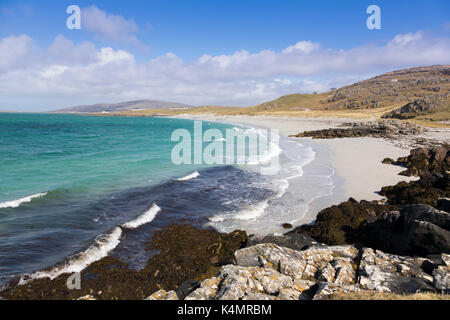 Prince's Beach (Coileag a' Prionnnsa), on the island of Eriskay in the Outer Hebrides, Scotland, United Kingdom, - Stock Photo