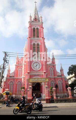 Church of the Sacred Heart of Jesus (Nha Tho Tan Dinh), Ho Chi Minh City, Vietnam, Indochina, Southeast Asia, Asia - Stock Photo