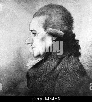 Charles Burney - portrait of the English organist , composer and music historian (7 April 1726 - 12 April 1814). - Stock Photo