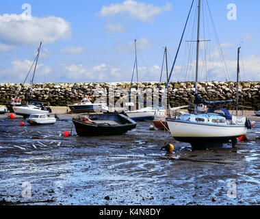 boats and yachts at Rhos on Sea - Stock Photo