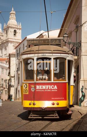 Tram in Lisbon - Stock Photo