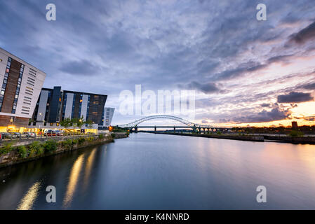 Panoramic  view of a major river crossing bridge The Mersey Gateway at Widnes, UK - Stock Photo