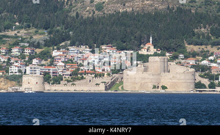 Kilitbahir Castle and Kilitbahir District in Canakkale City, Turkey - Stock Photo