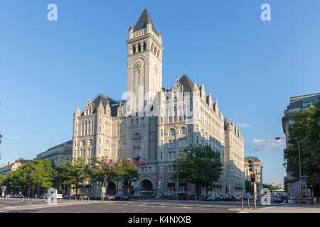 Washington DC - July 9th 2017 : Trump International Hotel Washington, D.C. - Stock Photo