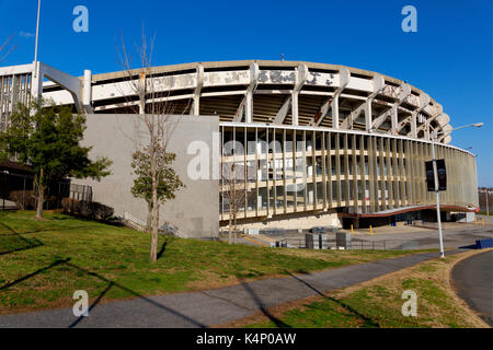 Washington DC, USA - Feb 26th, 2017.Robert E. Kennedy Memorial Stadium  in Washington, D.C, commonly known as RFK - Stock Photo