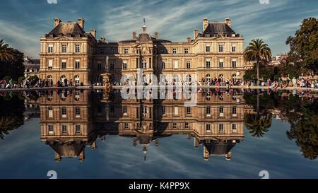 Palais du Luxembourg in Paris - Stock Photo