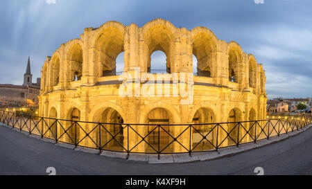 Arles Amphitheatre and Oldt Town, France - Stock Photo
